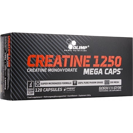 Creatine 1250 Mega 120 Caps Olimp Sport Nutrition